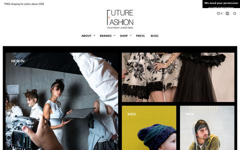 Screenshot of Home Page futurefashion.me - Fashion Store in Dubai | Online Shopping for Women and Men - captured Oct. 11, 2018
