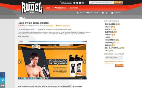 Screenshot of Blog rudelsports.com.br - Rudel Sports - captured Oct. 7, 2014