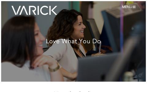 Screenshot of Jobs Page varickmm.com - Varick - captured Oct. 18, 2018