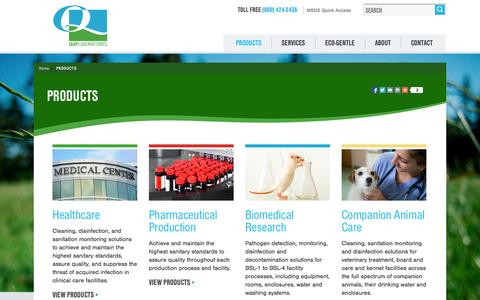 Screenshot of Products Page quiplabs.com - Products - Quip Labs - captured Oct. 3, 2014