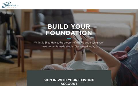 Screenshot of Login Page b2clogin.com - Sign In To Your Account | Shea Homes - captured Aug. 1, 2019