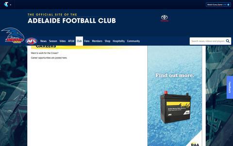 Screenshot of Jobs Page afc.com.au - Careers - AFC.com.au - captured Sept. 24, 2018