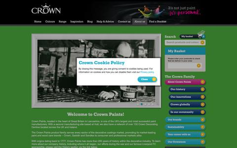 Screenshot of About Page crownpaints.co.uk - About Crown Paints   Crown Paint - captured May 22, 2016