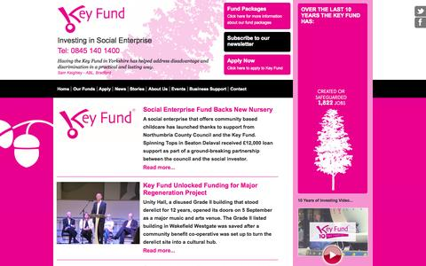 Screenshot of Press Page thekeyfund.co.uk captured Oct. 6, 2014