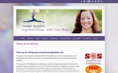 Screenshot of Terms Page smartwomeninspiredlives.com - Terms & Conditions - Smart Women Inspired Lives - captured Dec. 22, 2015
