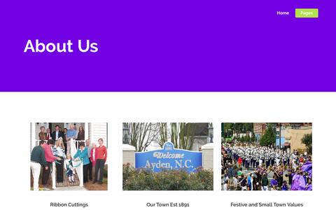 Screenshot of About Page aydenchamber.com - About Us – Ayden Chamber - captured Nov. 21, 2016