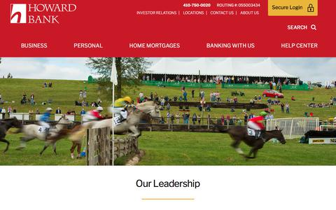 Screenshot of Team Page howardbank.com - Our Leadership | Howard Bank - captured Sept. 21, 2018