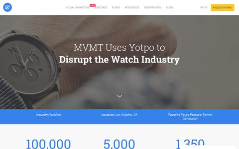 Screenshot of Case Studies Page yotpo.com - Yotpo Helps MVMT Acquire Thousands of Reviews and Q&A - captured Dec. 27, 2016