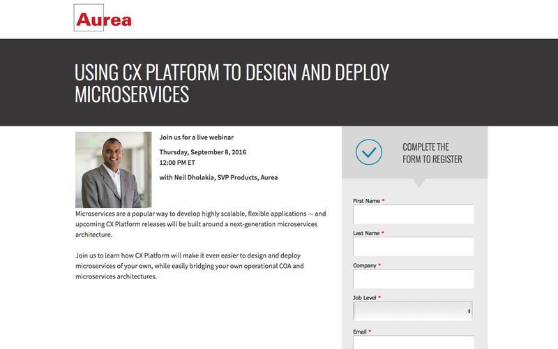 Next Gen Microservices with CX Platform Enterprise | Aurea