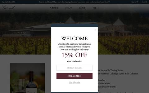 Screenshot of Signup Page girardwinery.com - Girard Winery | A Sense of Place in the Napa Valley - captured Aug. 21, 2019