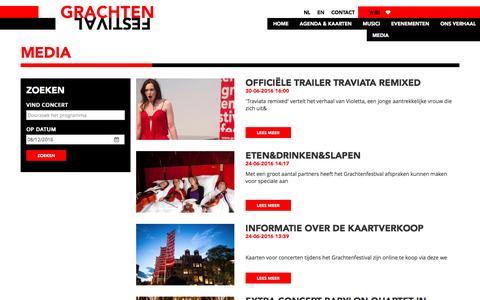 Screenshot of Press Page grachtenfestival.nl - Grachtenfestival - captured July 6, 2016