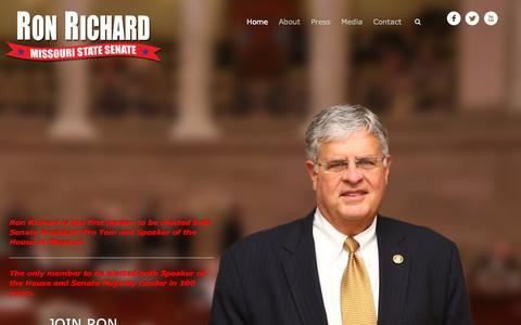 Screenshot of Home Page ronrichard.com - Home - Ron Richard | Missouri State Senator - captured Oct. 10, 2015
