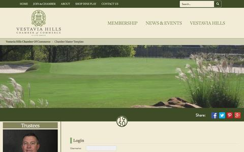 Screenshot of Login Page vestaviahills.org - Login - Vestavia Hills Chamber of Commerce - captured Dec. 3, 2016