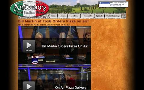 Screenshot of Press Page antoniospizza.net - News - captured Sept. 30, 2014
