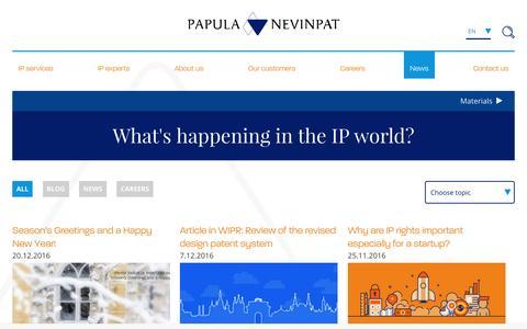 Screenshot of Press Page papula-nevinpat.com - News - Papula-Nevinpat - captured Dec. 30, 2016