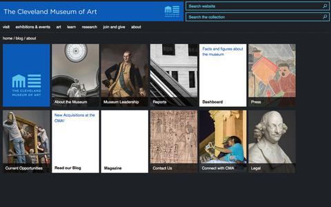 Screenshot of About Page clevelandart.org - About | Cleveland Museum of Art - captured June 25, 2017