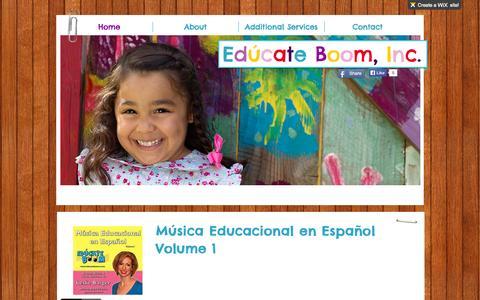 Screenshot of Home Page educateboom.com - www.educateboom.com - captured Oct. 2, 2014