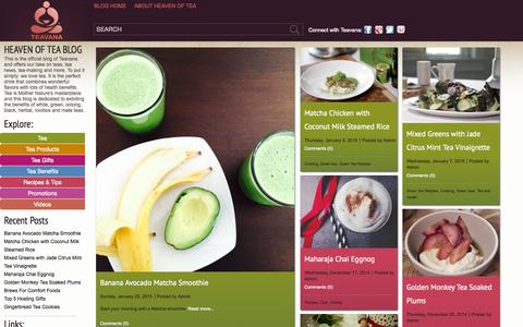 Screenshot of Blog teavana.com - Heaven of Tea | Teavana - captured June 21, 2015