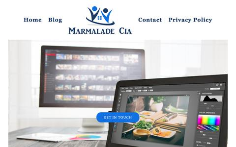Screenshot of Home Page marmalade-bakeshop.com - 5 Ways to Avoid Over-Paying for Shipping on Your E-commerce Websites - captured Sept. 20, 2018