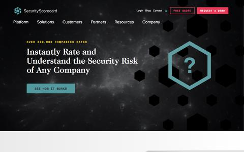 SecurityScorecard | Security Ratings | Continuous Risk Monitoring | SecurityScorecard