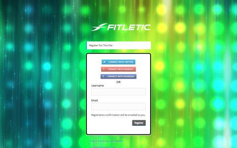 Screenshot of Signup Page fitletic.com - Fitletic.com › Registration Form - captured Feb. 10, 2016