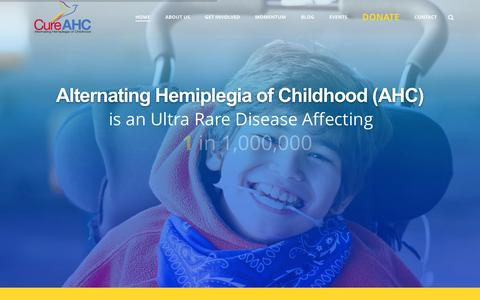 Screenshot of Home Page cureahc.org - Alternating Hemiplegia of Childhood - Cure AHC - captured Dec. 14, 2015