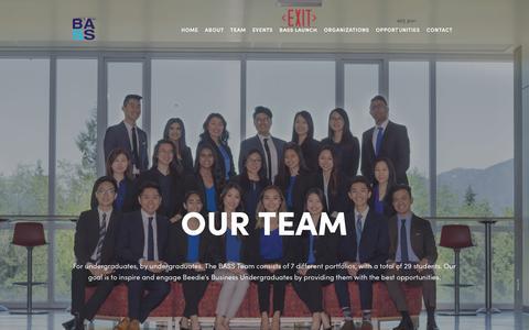 Screenshot of Team Page beediebass.com - Our Team — beediebass - captured Oct. 1, 2018