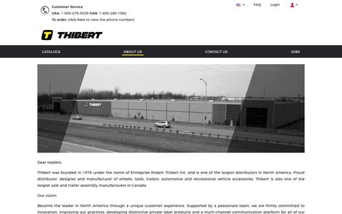 Screenshot of About Page rthibert.com - A propos | Thibert Inc - captured Aug. 19, 2019