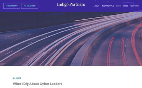 Screenshot of Blog indigopartnersinc.com - Blog - Indigo Partners, Inc. Indigo Partners, Inc. - captured Aug. 5, 2016