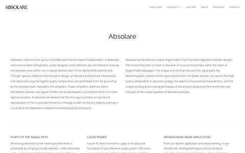 Screenshot of About Page absolare.com - Absolare - captured Feb. 4, 2016
