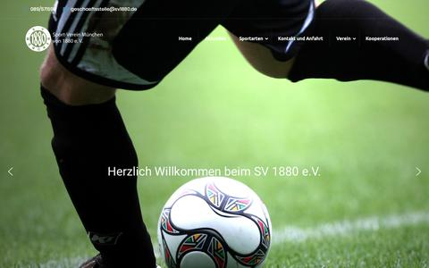 Screenshot of Home Page sv1880.de - Home - Sport-Verein München von 1880 e. V. - captured Oct. 23, 2018