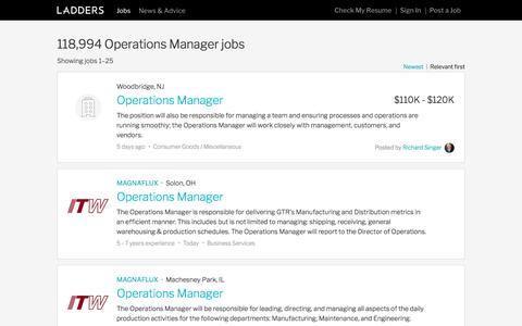 Operations Manager Jobs | Ladders