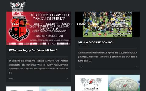 Screenshot of Press Page alessandriarugby.com - News – Alessandria Rugby - captured Sept. 24, 2018
