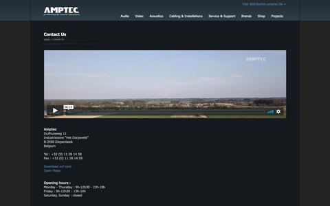 Screenshot of Contact Page amptec.be - Amptec - captured Oct. 21, 2018