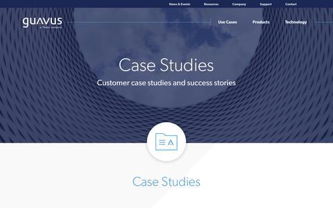 Screenshot of Case Studies Page guavus.com - Guavus Datasheets - captured April 29, 2018