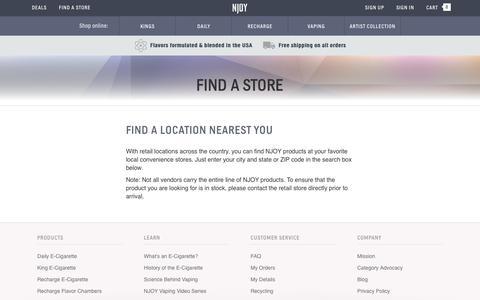 E-Cig Stores Near Me | Vape Stores | NJOY