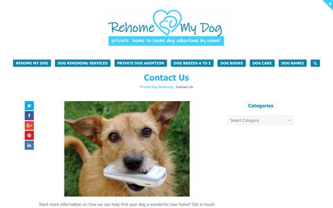 Screenshot of Contact Page dogs-central.com - Contact Us - Rehome My Dog - captured Oct. 28, 2018