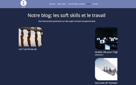 Screenshot of Blog lifelab.fr - Informez-vous sur les soft skills en Entrerprise | Life Lab - captured July 15, 2018