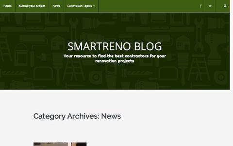 Screenshot of Press Page smartreno.com - News | SmartReno Blog - captured Oct. 25, 2014