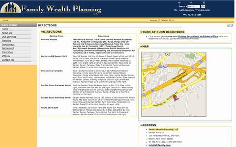 Screenshot of Maps & Directions Page sfrfamily.com - Family Wealth Planning / Summit Financial Resources  - Directions - captured Oct. 5, 2014
