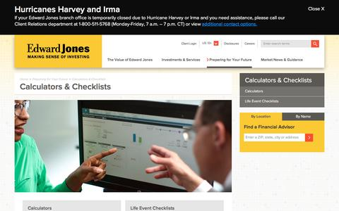 Financial Calculators & Checklists | Edward Jones