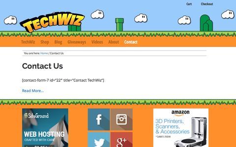 Screenshot of Contact Page techwiz.com.au - Contact Us - TechWiz - captured Sept. 30, 2016