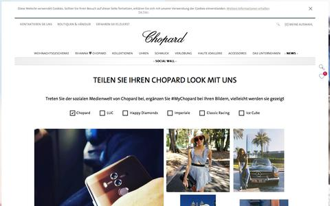 Screenshot of Press Page chopard.de - Chopard Social Wall | Chopard Official Website - captured Dec. 4, 2017