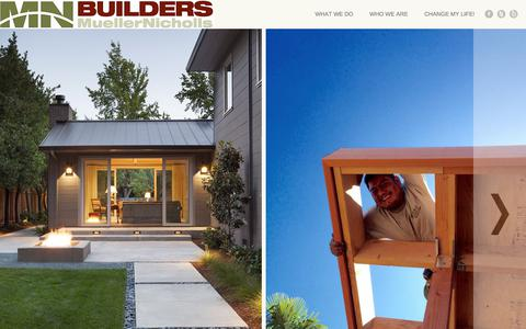 Screenshot of Home Page mnbuild.com - MN Builders | Construction, Custom Cabinetry and Millwork | Residential and Commercial | San Francisco Bay Area - captured Oct. 21, 2017