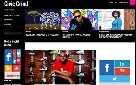 Screenshot of Home Page civicgrind.com - Civic Grind | LIFE ON PURPOSE - captured Sept. 29, 2014