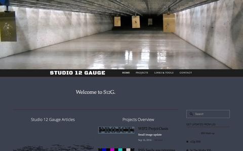 Screenshot of Home Page studio12gauge.com - Studio 12 Gauge - captured Oct. 8, 2014