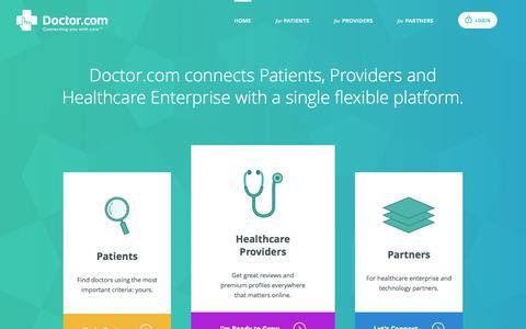 Screenshot of Home Page doctor.com - Physician Marketing & Reputation Management | Doctor.com - captured Oct. 1, 2015