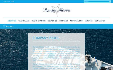 Screenshot of About Page olympic-marine.com - About us - Olympic Marine : Olympic Marine - captured June 12, 2017