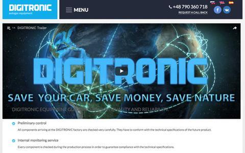 Screenshot of Home Page digitronicgas.com - DIGITRONIC - Autogas Systems - captured Nov. 24, 2016