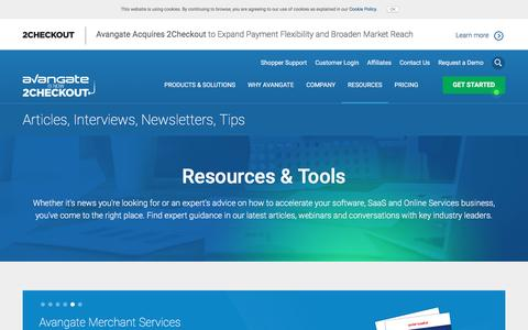 Screenshot of avangate.com - Software News   Commerce Resources   eCommerce Trends - captured April 27, 2017